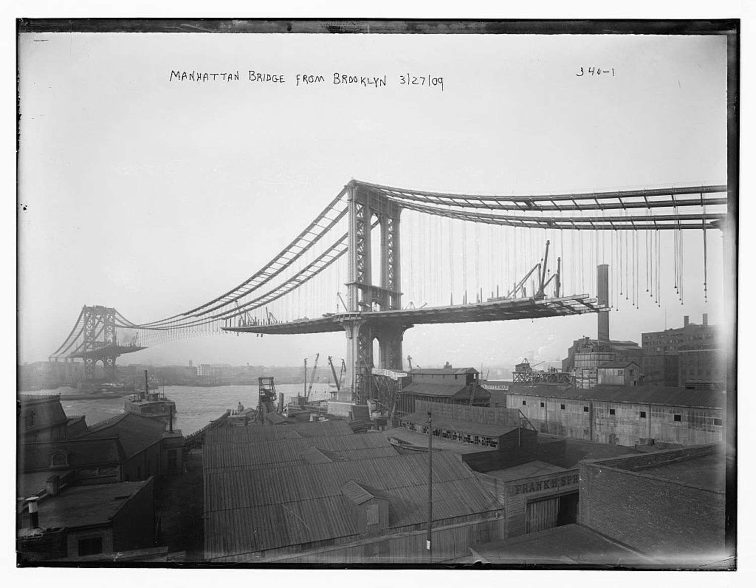 Manhattan Bridge From Brooklyn - 1909