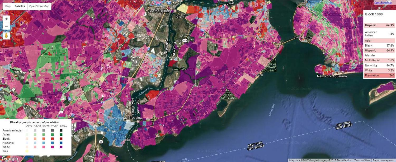 Staten Island Ethnic Density Map