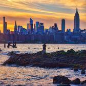 Sunset Over Manhattan Skyline