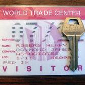 RARE, World Trade Center KEY w/ Visitor Pass Twin Towers WTC 911 New York, USA