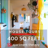 A 400-Square-Foot Apartment Filled with Color and Clever DIYs | House Tours | Apartment Therapy