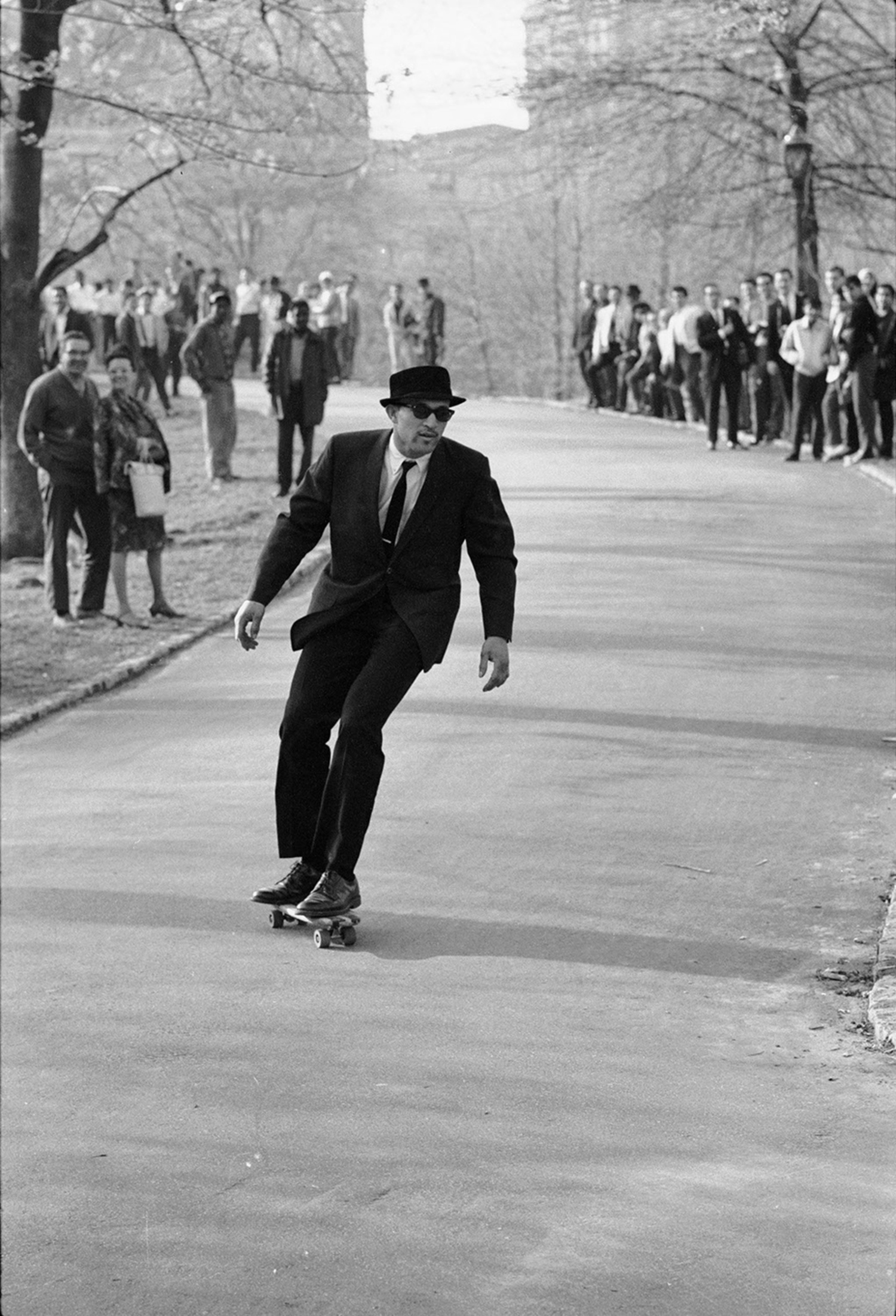 The raddest dude to ever live bombs a hill in Central Park.