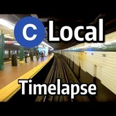 ⁴ᴷ⁶⁰ NYC Subway Timelapse - The C Local to Euclid Avenue