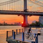 Sunrise from Brooklyn Bridge Park, DUMBO, Brooklyn