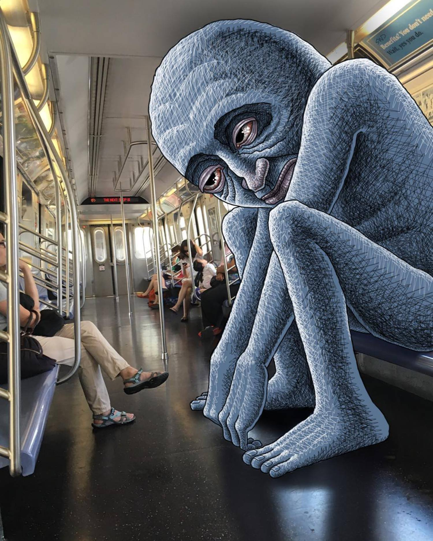 #subwaydoodle #subway #doodle #swd #nyc #cramped