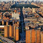 Looking south over Manhattan from the Bronx.