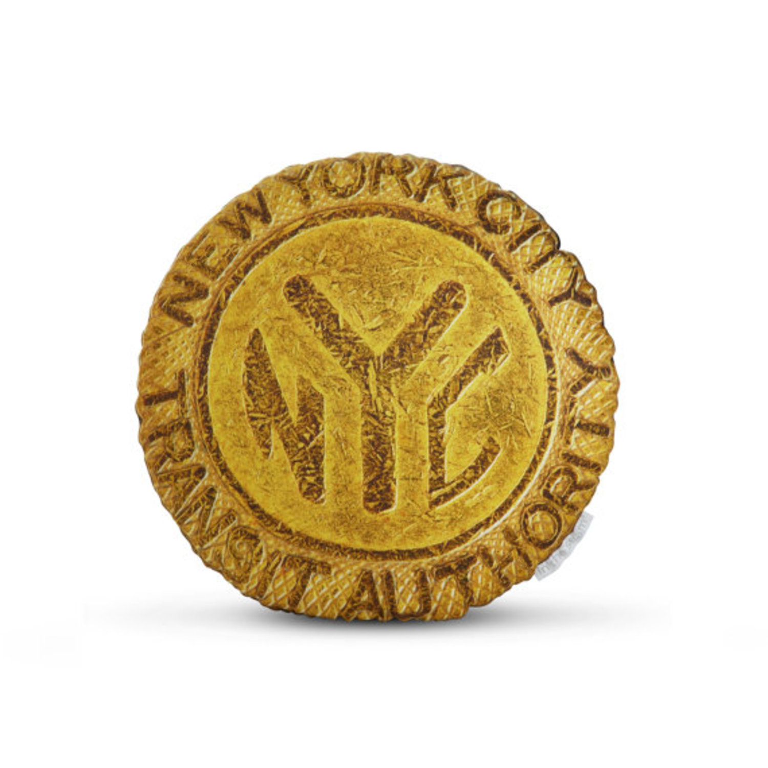 Officially Licensed 1980 NYC Subway Token Printed Pillow