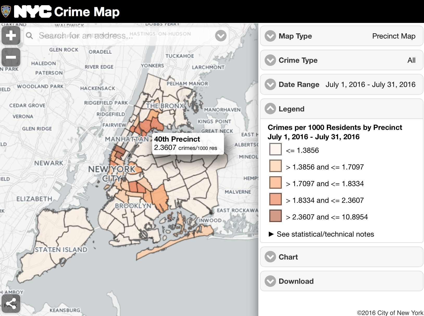 NYC Crime Map | Viewing NYC on