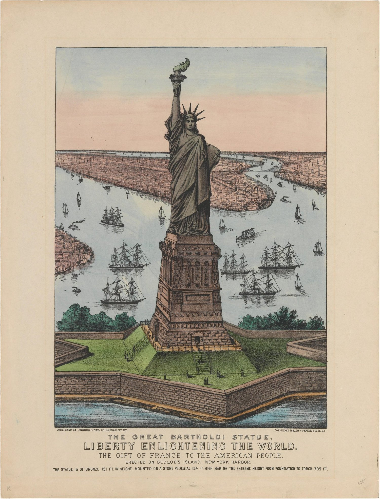 The #StatueofLiberty arrived in New York Harbor from France on this day in 1885. http://t.co/SQfmAz0LkL http://t.co/g2aSaCFEcM