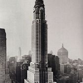 The Chrysler Building in 1929... a year before it's Art Deco cladding had been completed