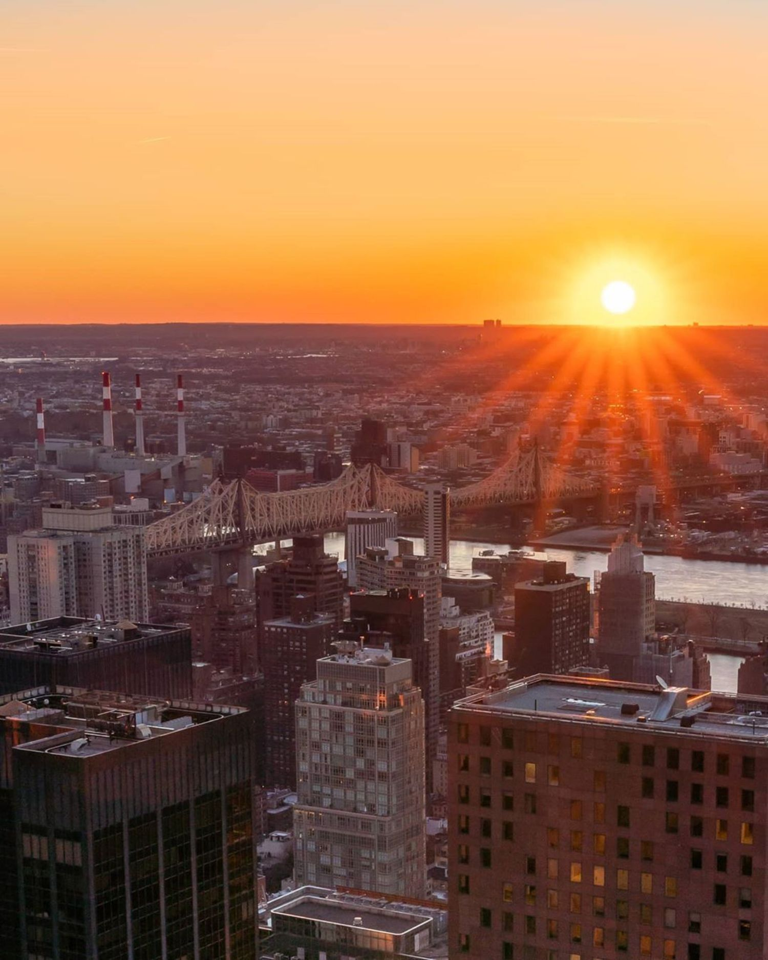 Sunrise over Queens, New York