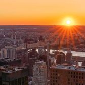 Sunrise over Queens, New York