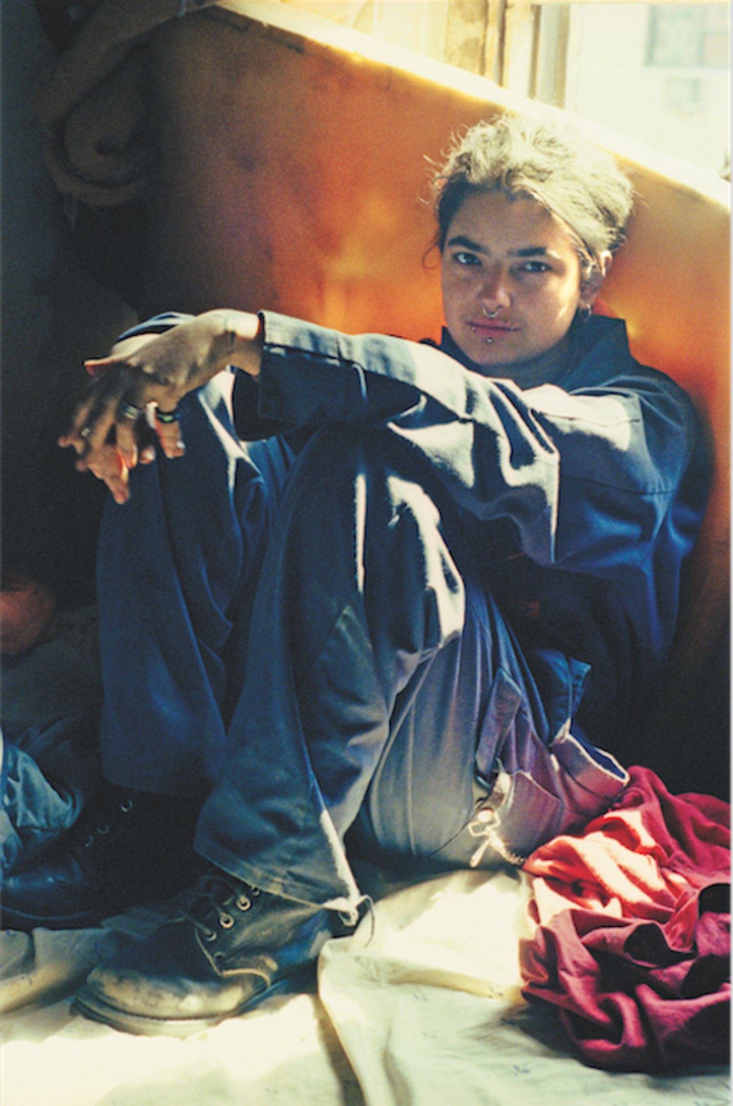 Jen (on Bed), Fifth Street Squat, 1995