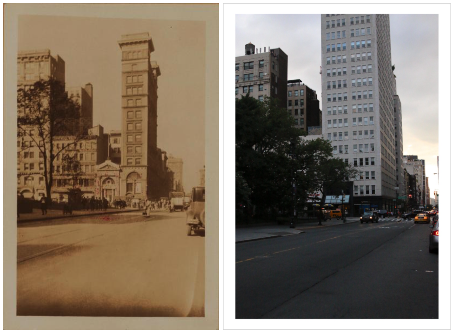 Broadway, west side, between Warren and Chambers streets (Percy Loomis Sperr, 1928). October 30, 1928 // July 4, 2017