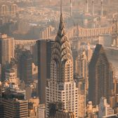 Chrysler Building from Empire State Building Observation Deck, Midtown, Manhattan