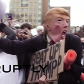 USA: 'Donald Trump' attacked by mob during NYC pillow fight