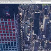 Someone is sitting on the edge of 432 Park in Google Earth.