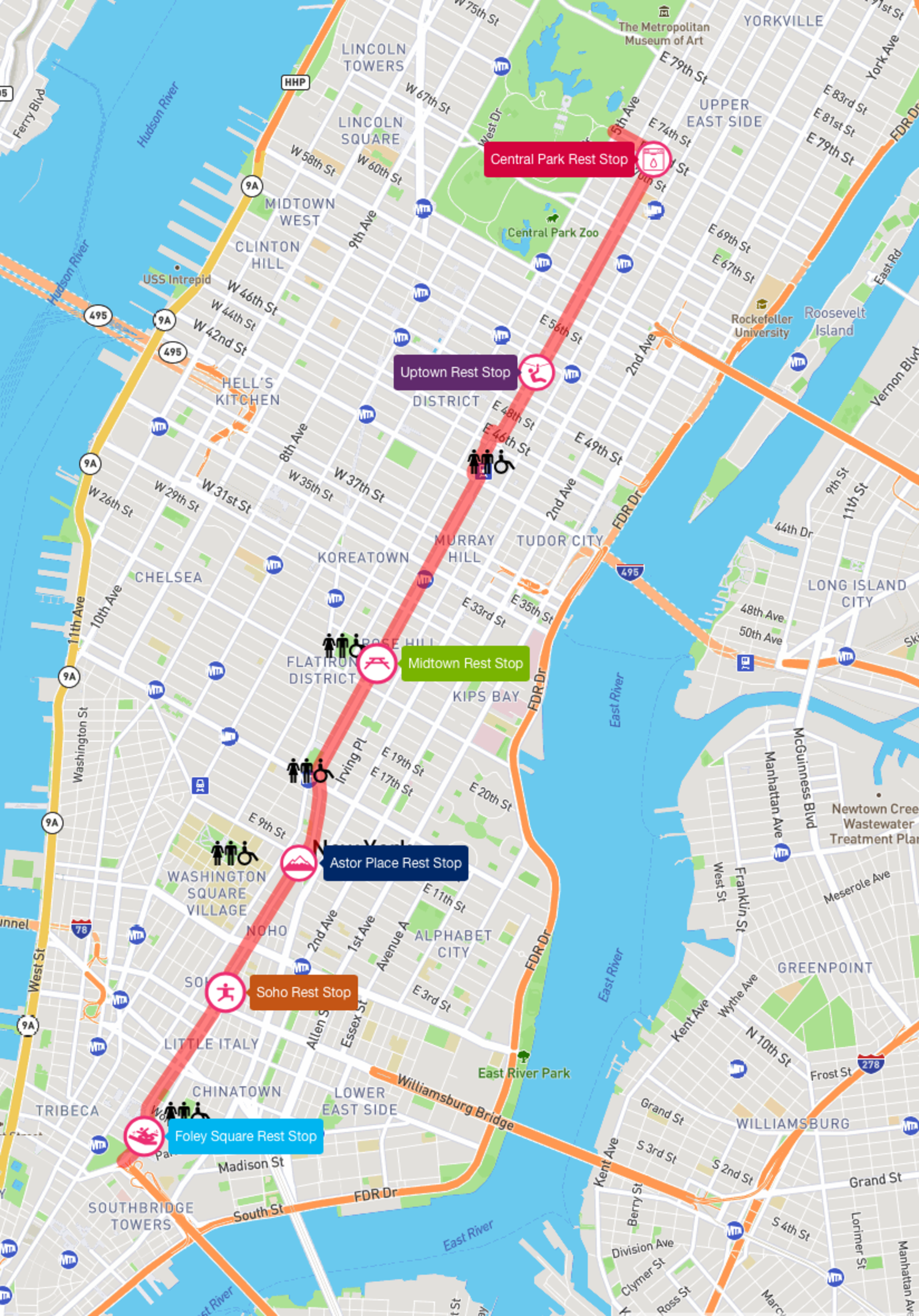 2017 Citi Summer Streets Map