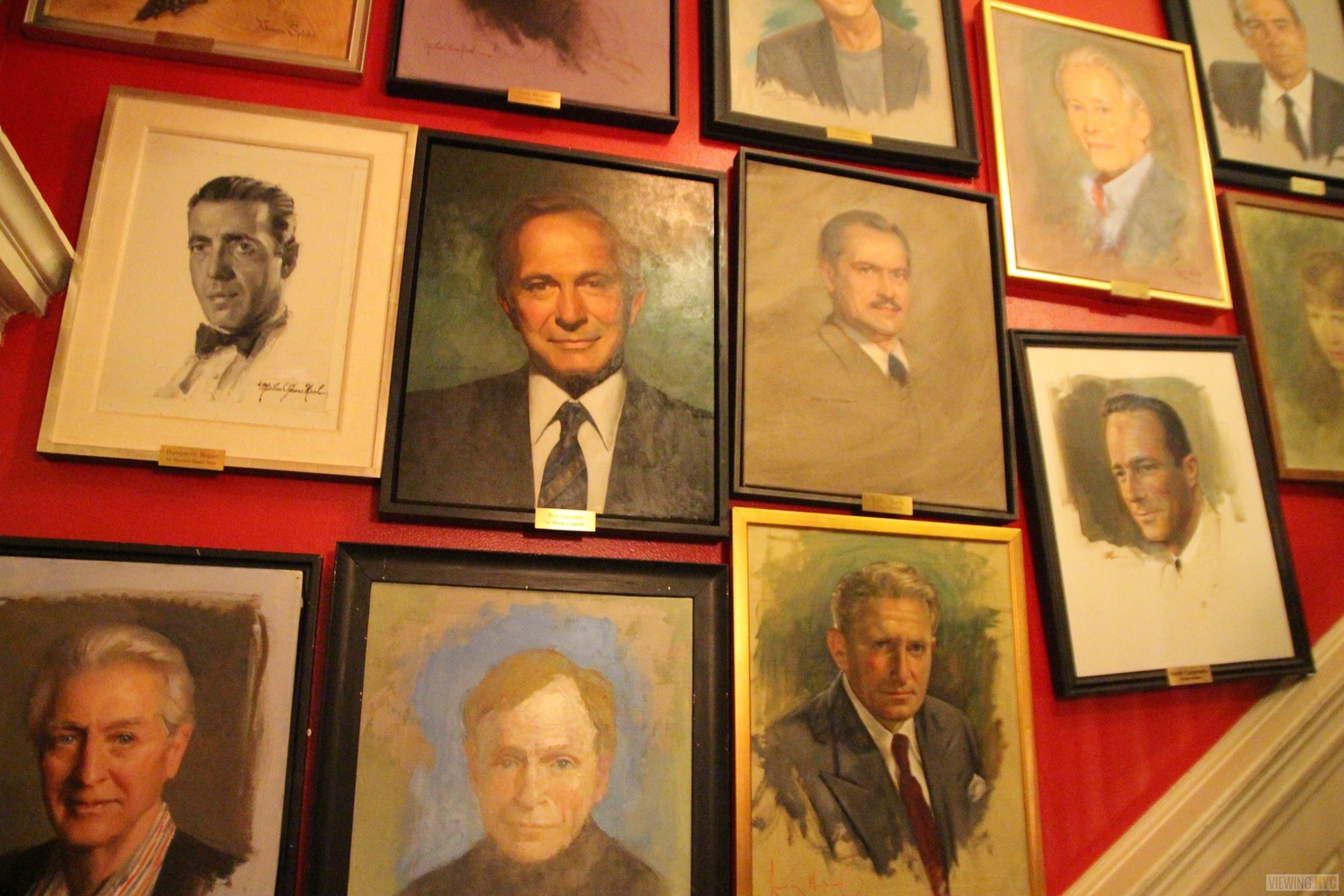 Portraits Along Staircase