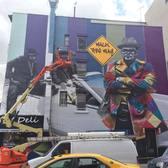 Yep it's another new @kobrastreetart masterpiece underway, this time back in the East Village where it all began in late July. . #streetart #wip #workinprogress #urbanart #wallart #streetartist #urbanwalls #streetartistry #streetarteverywhere #streetartphotography #muralart #spraypaintart #aerosolart #streetart_daily #streetartandgraffiti #street_art #nycstreetart #streetartnyc #streetartnews #kobra #kobrastreetart #streetartists