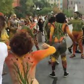 Over 100 Body Painted Naked People Dance In NYC Streets to Celebrate Body Acceptance