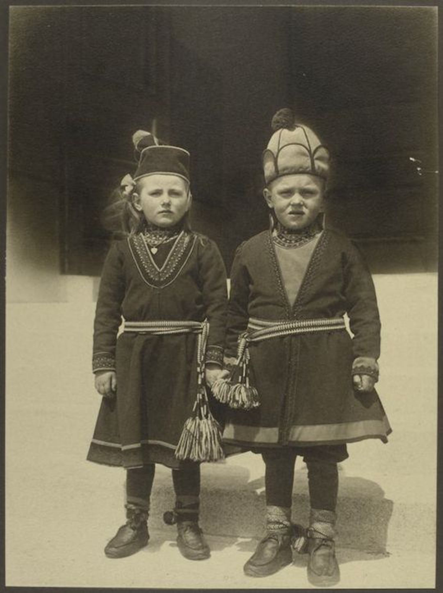 Children from Lapland. Portraits for Ellis Island.