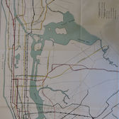 Track Plan of Existing and Proposed Rapid Transit Lines (1927)