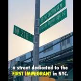 History of the name Juan Rodríguez street in New York.