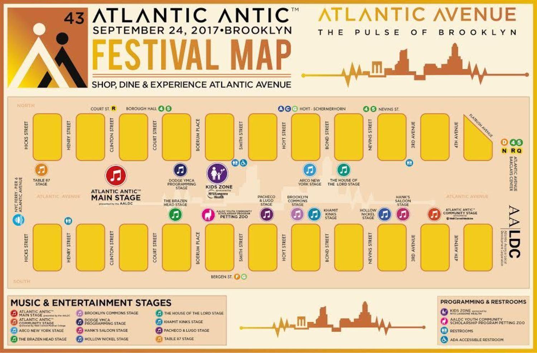 Atlantic Antic 2017 Festival Map