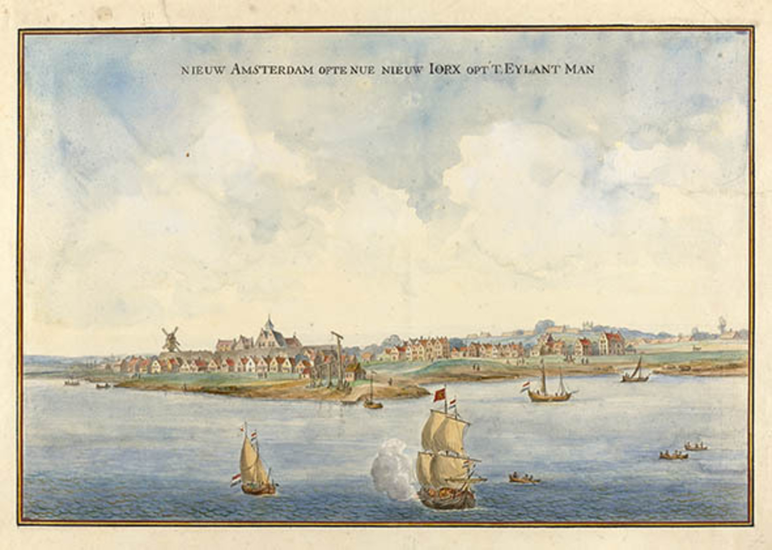 Image of Manhattan, circa 1660.