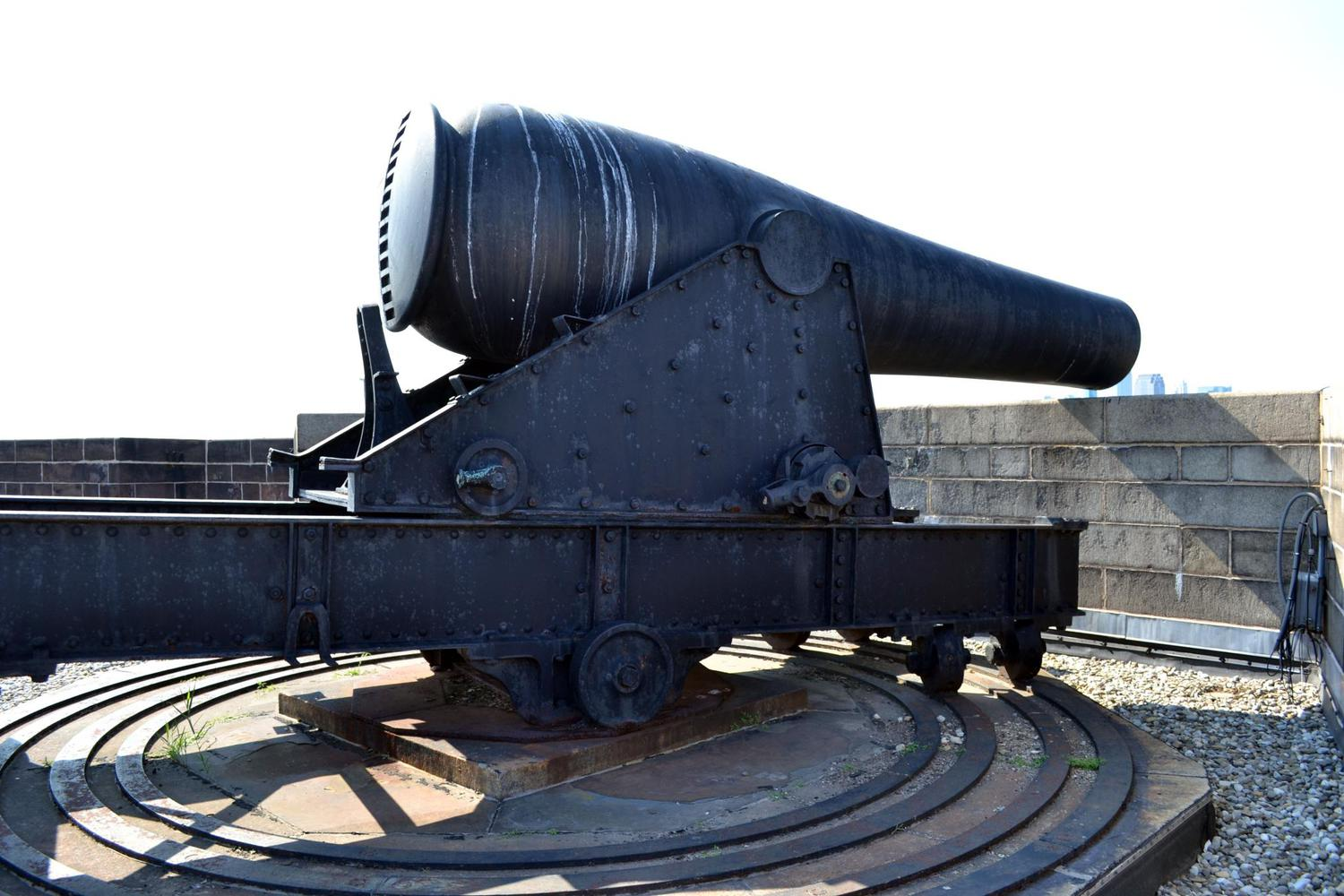 Cannon atop Castle Williams