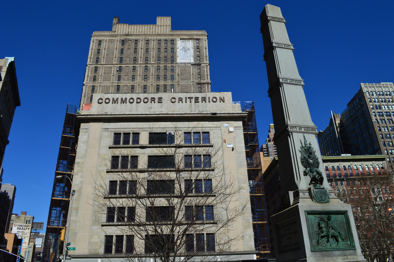 The Commodore Criterion Building and William J. Worth Memorial