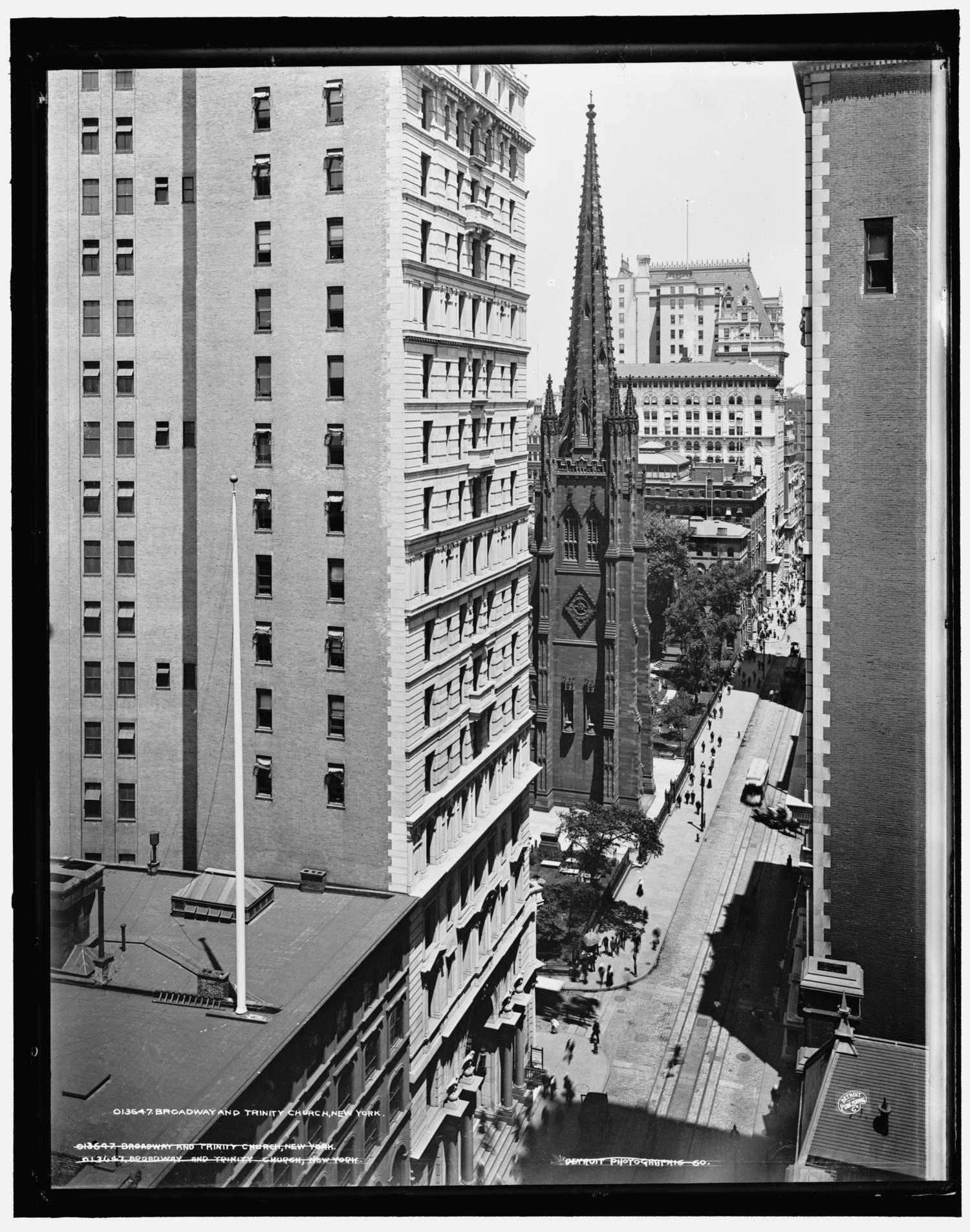 Broadway and Trinity Church, New York ca. 1900
