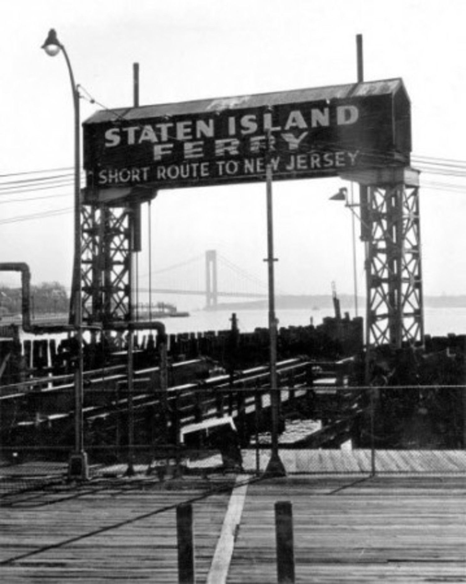 "Once the Verrazano Narrows Bridge was built the Brooklyn Ferry, at 69th Street, was no longer the, ""short route to New Jersey"". The service was stopped in 1964. Mar. 23, 1966."