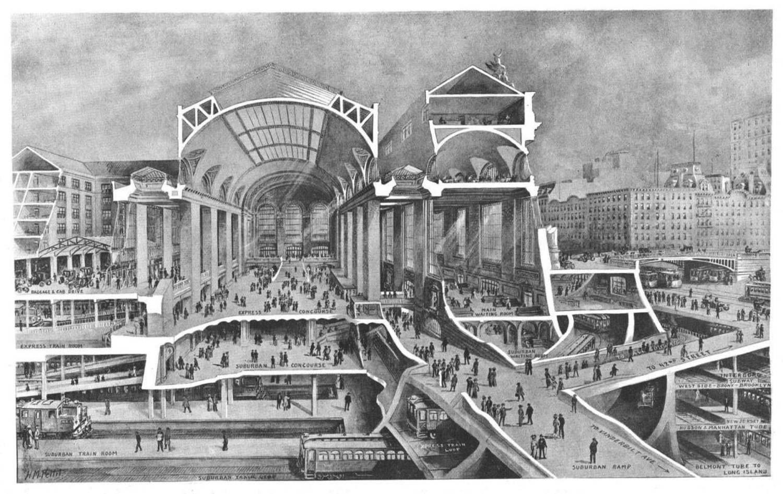Hudson Manhattan Tubes, Grand Central Terminal, Manhattan