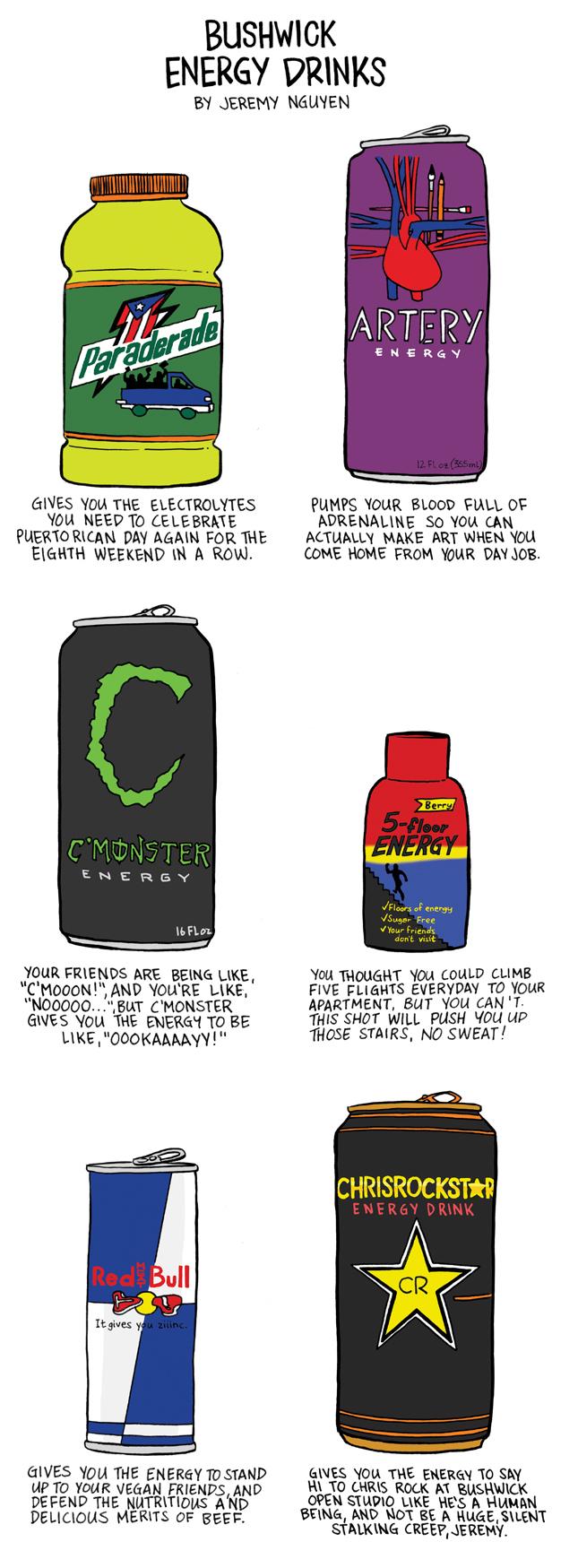 Bushwick's Energy Drinks