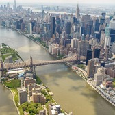 Roosevelt Island, East River, and Midtown East, Manhattan
