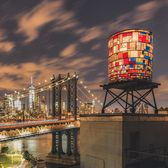 Tom Fruin's Water Tower, DUMBO, Brooklyn