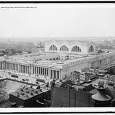Bird's-eye view, Penn Station, New York City