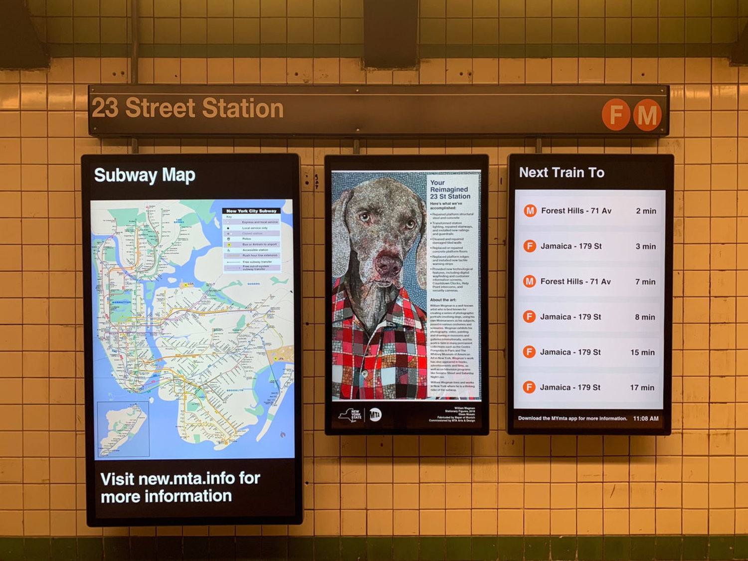 The Newly Reopened 23rd Street F/M Station Has Already Gone To The Dogs