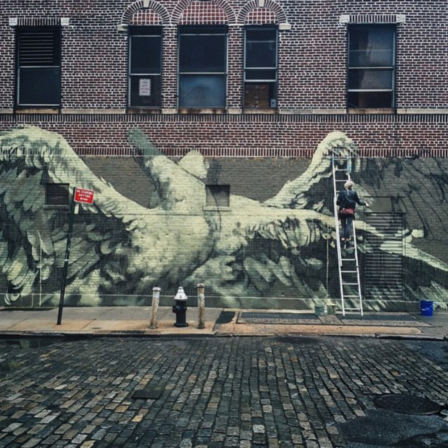 #inprogress #thepsychicpowerofanimals #wallfour #nyc #Manhattan #faith47 #dayten #swanlife regram @thadotman