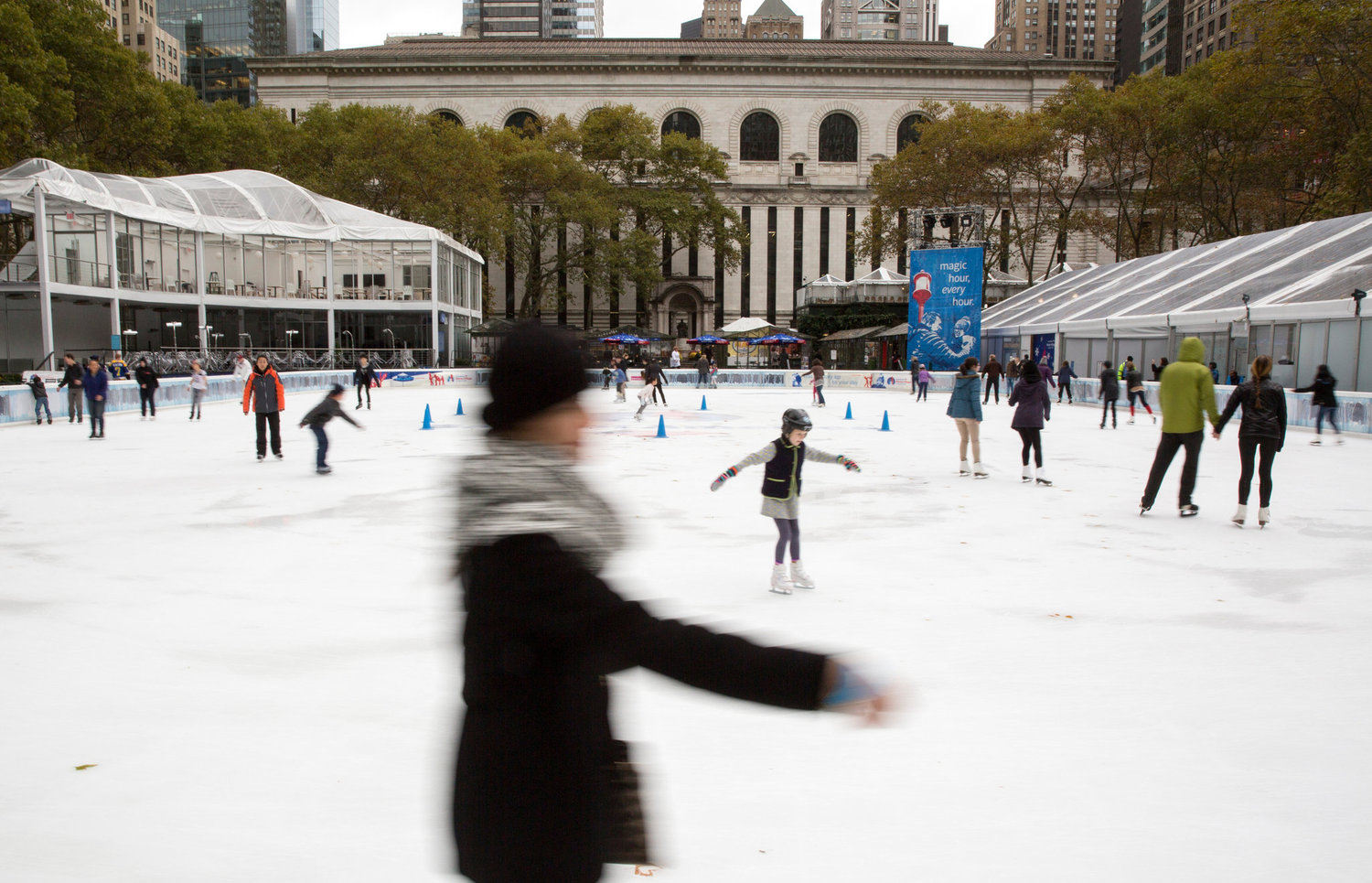 Behind the library, under Bryant Park and the skating rink, a complex storage space is taking shape.
