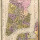 Fairly detailed street map of downtown New York City from 1850