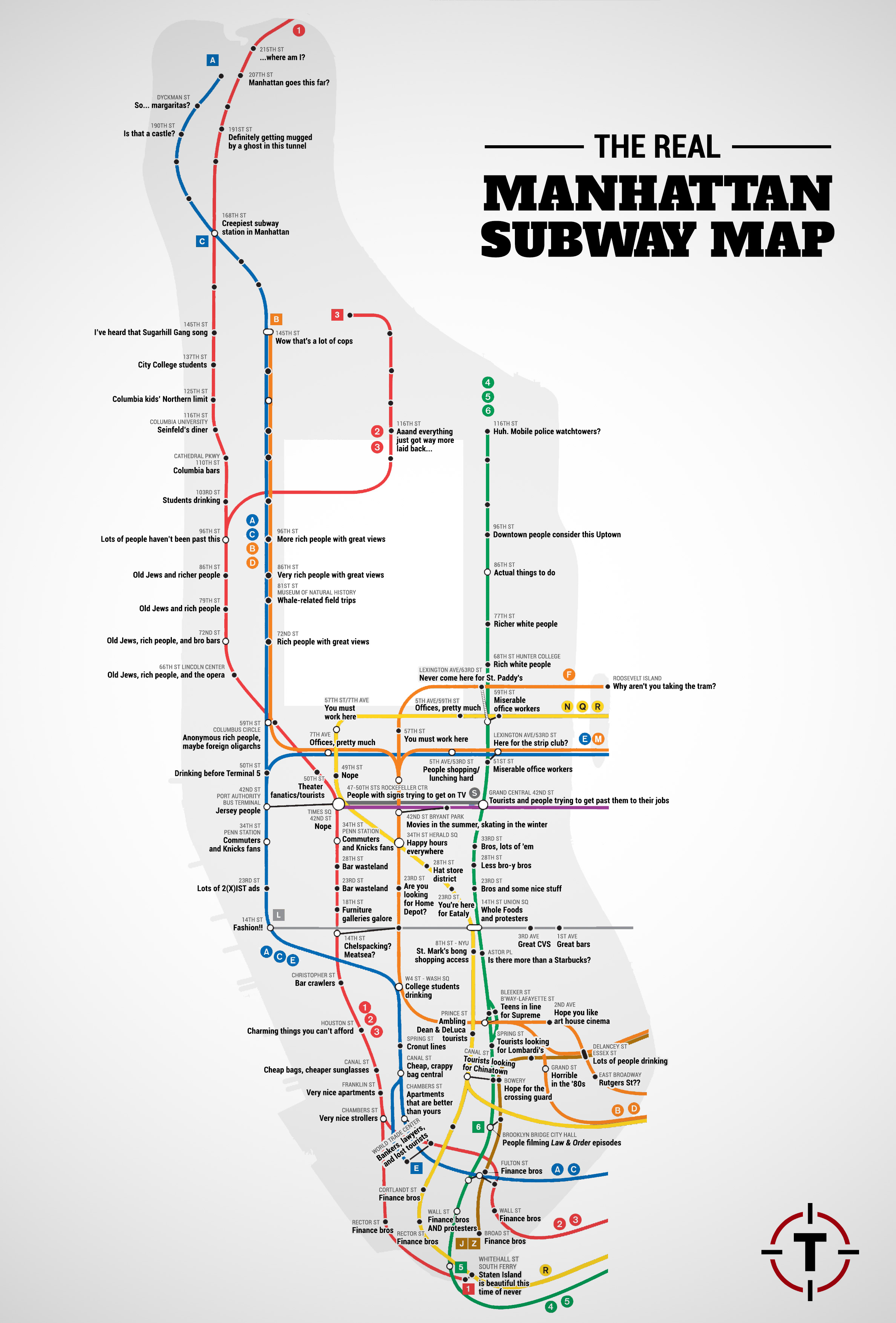 The Real Manhattan Subway Map | Viewing NYC