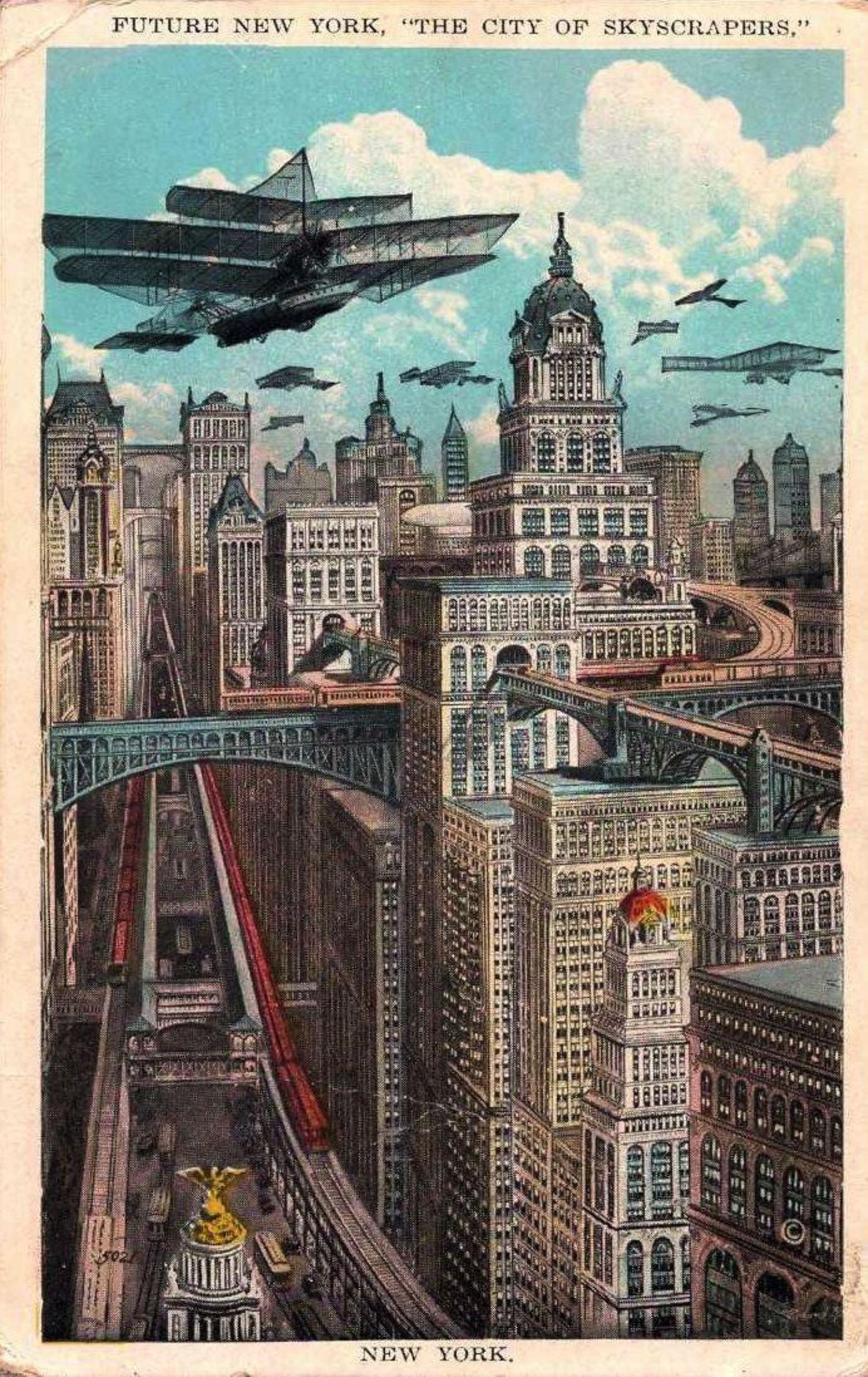 A 1925 prediction of how a future New York could look