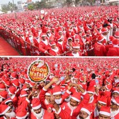 Ho ho ho, that's a whole lot of Santas!