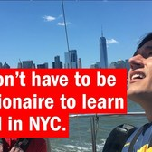 You don't have to be a millionaire to sail in NYC