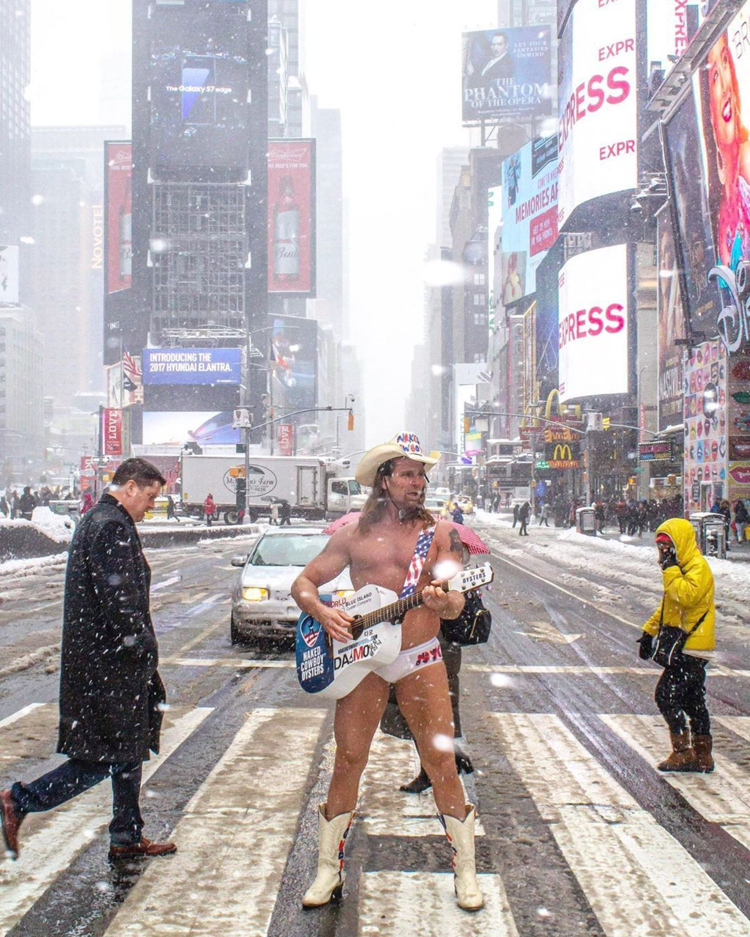 Naked Cowboy, Times Square, Manhattan