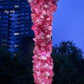 "The ""Rose Crystal Tower"" was officially unveiled this morning and will be at Union Square Park until October 2018! Thank you to @nycparks @unionsquareny and @marlboroughgallery  #Chihuly #ArtInTheParks #NYCParks #USQArt"