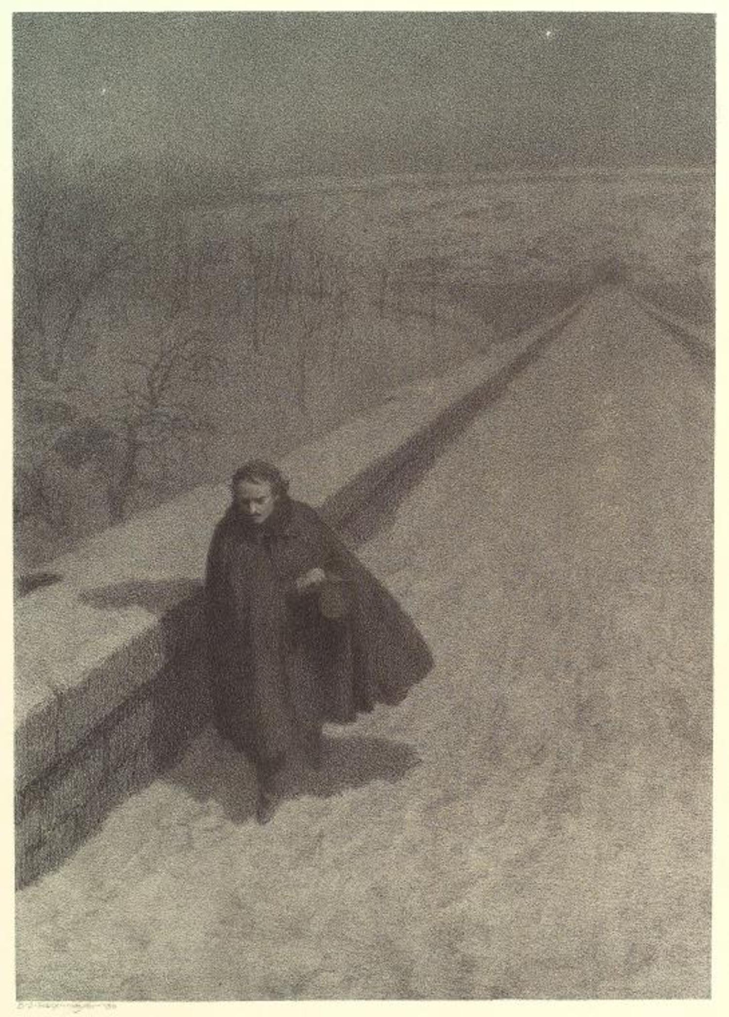 Edgar Allan Poe Walking High Bridge